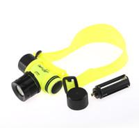 Wholesale LED Light Underwater Diving Yellow Shallow light Waterproof Flashlight Torch