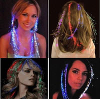 Wholesale Beauty Colorful Hair band Flash LED Braid Gleamy Headwear for Party Holiday Bar Gift Toys