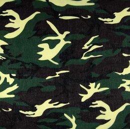 Wholesale - Hot Sale 12Pcs Camo Green 100% Cotton Bandanas Head Wrap Scarf Wrist Band