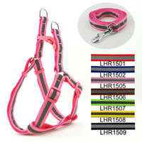 Wholesale Colors Classic Pet Dog Reflective Print Harness Leash Set cm