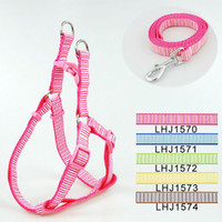 Wholesale olors Classic Pet Dog Stripes harness Leash Lead set cm