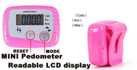 Wholesale Multi function mini Pedometers step counter with two keys readable LCD display