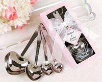 Wholesale Heart Measuring Spoons Set Wedding Favor Gift Love Beyond Measure Spoons