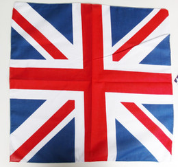 Hot Sale 12Pcs UK Union Jack flag bandana Head Wrap Scarf Neck Warmer Double Sided Print