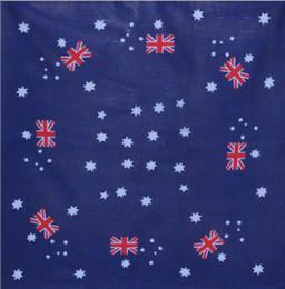Hot Sale 12Pcs 100% Cotton Australian National Flags Bandanas Head Wrap Scarf Wrist Band