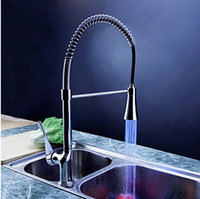 Wholesale LED faucet Kitchen amp Kitchen Basin Sink Pull Out Spray Mixer Tap DH