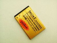 Wholesale Hot sale V mah Gold Battery for HTC Desire S G12 A7272 Desire Z