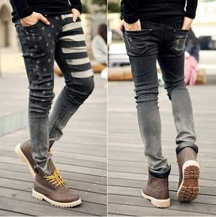 2013 Winter Autumn Skinny Jeans Men/American Flag Jeans For Men ...