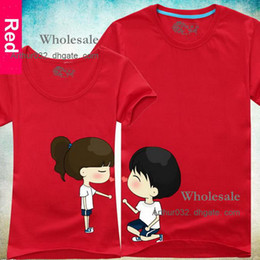 Wholesale 2013 New Trend Of Korean Lovers Summer Original Sweet Personality Couple T shirt Short Sleeve Colors