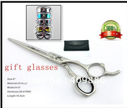 Wholesale Barber Scissors With Leather Cases Inch hair scissors
