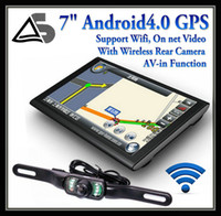 Wholesale 7 inch tablet GPS Navigation System Wifi AVIN FM DDR3 GB Android OS Night version wireless car rear view camera