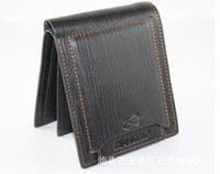Wholesale Leather wallet card Purse multi function three fold zero wallet man leather coin bags