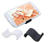 Black/White cell phone display - 10pcs Universal Mobile Phone Cell phone Display Stand Holder for iPhone Samsung HTC MP4 MP5