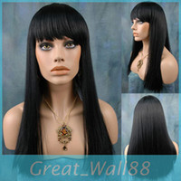 Black Straight 14 Free Shipping Multi-Color Synthetic Wigs Fashion Party Wig Heat Friendly 16-24inch Straight