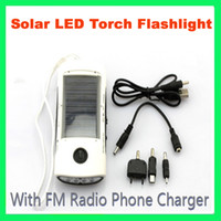 Wholesale New Arrival Multifunctional Solar Charger Mobile Charger solar Flashlight FM radio multi novelty pro