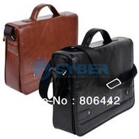 Wholesale 2013 High Quality Men s Leather Shoulder Messenger Business Briefcase Bag Handbag Colors Free Shipp