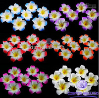 Wholesale inch Hawaiian Plumeria Foam Flower Hair Clips colors mixed