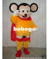 Angel mighty mouse - Mighty Mouse Superman Strong Man Adult Mascot Costume
