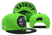 Ball Cap 59fifty hats - TRUKFIT Feelin Spacey Boys Snapback green black cotton Fifty Fitted Caps Adjustable hats