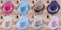 Boy Spring / Autumn Crochet Hats 10pcs* Baby Hats Children Hats Kids Top Hat Boys Girls Fedora Caps Headgear MIX Colors