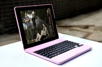 Wholesale Pink Color Amh Rechargeable Bluetooth Wireless Notebook Keyboard Case Cover Stand for Apple The New ipad