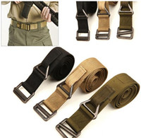 Wholesale Colors Fashion Unisex Buckle Military Thicker Waistband Waist Canvas Belt Relaxation