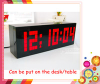 Wholesale New Arrivals Large Big Jumbo LED Clock Display Table Desk Wall Alarm Temperature Calendar Digital Clock