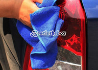 Microfiber Towel  30 Towel Hot Selling Blue Car Wipe Cloth Wash Cleaning Towel Micro Fibre