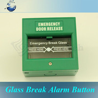 Wholesale Emergency Exit Door Release Glass Break Alarm Button for Access Control System Green