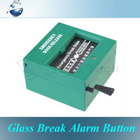 Wholesale 5pcs Emergency Exit Door Release Glass Break Alarm Button for Access Control System Green