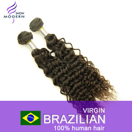 Wholesale Unprocessed Brazilian Curly Hair Deep Wavy Virgin Remy Human Hair Weft Extensions Natural Black B