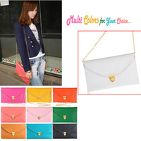 Wholesale Lady envelope clutches leather shoulder bags women Totes Handbag Chain bags for woman H9293