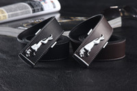 Wholesale new fashion men s belt smooth buckle leather belt