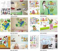 Wholesale hot cute designer cm removable Wall windows Sticker paper poster children Home Decor Room