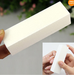 Wholesale Fashion White Buffer Block Buffing Sanding Filing Acrylic Natural Nail Art