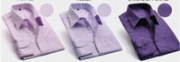 Wholesale Mixed order Men s solid color dress shirts cotton Male lapels desginer casaul dress shirt