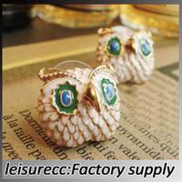 Wholesale Piercing owl stud earrings