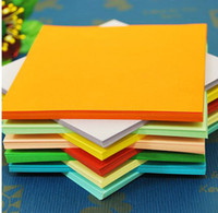 Wholesale Free Ship cm Multi color Origami Paper Double Face Handmade Folding Paper for Craft Punch