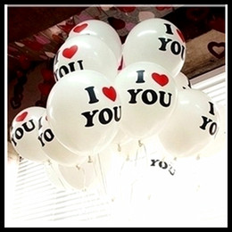 Wholesale Hot Selling Wedding Decoration Balloons inch Round Proposal Balloon Romantic with I LOVE YOU