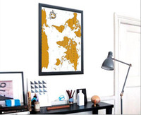 Wholesale New Amazing Scratch Map Personalised World Map Poster Wall