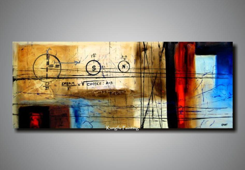 100 Handpainted Huge Wall Art Canvas Picture On The