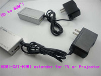 Wholesale HDMI to CAT to HDMI extender for TV or Projector no loss of high definition signal