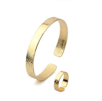 Wholesale 2013 New Arrival k Gold plated Women Bracelet Set Made by Environmental Copper