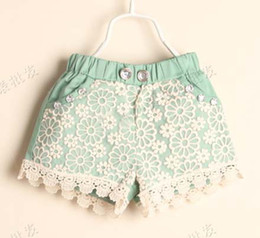 Wholesale Child Clothing Wear Fashion Summer Shorts Children Casual Pants Girls Cute Lace Shorts Kids Pants