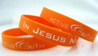 Wholesale Hot Sale Active Faith Sports Silicone Wristbands Jeremy Fans Rubber Band Basketball Bracelets