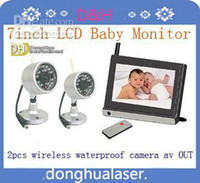 Wholesale Hot selling inch wireless baby monitor wireless waterproof cameras AV out OSD function baby ca
