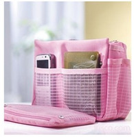 Wholesale NEW fashion Multifunction Women girls Makeup cosmetic bag Handbag Organiser Large Insert MP3 Phone