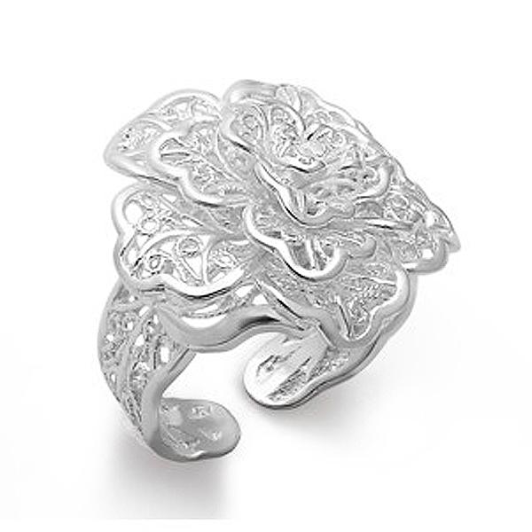 Pure Silver Bracelet Pure Silver Ring Women Rose