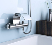 Wholesale bathroom product C shape waterfall brass bathfaucet