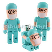 No USB 2.0 Plastic Fashionable Cute Doctor Model Genuine Full Capacity USB 2.0 Flash Memory Stick Pen Drive 8GB U disk